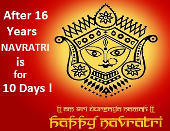 After 16 years Sharad Navratri 2016 will be of 10 days